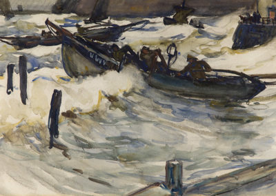 Cobles Leaving Staithes, Joseph Richard Bagshaw