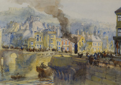 Steam Tug, Whitby Bridge, George Weatherill