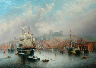 Weatherill, Richard, 1844-1923; Upper Harbour, Abbey and St Mary's Church