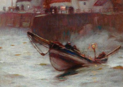 Knight, Harold, 1874-1961; Coble at Staithes