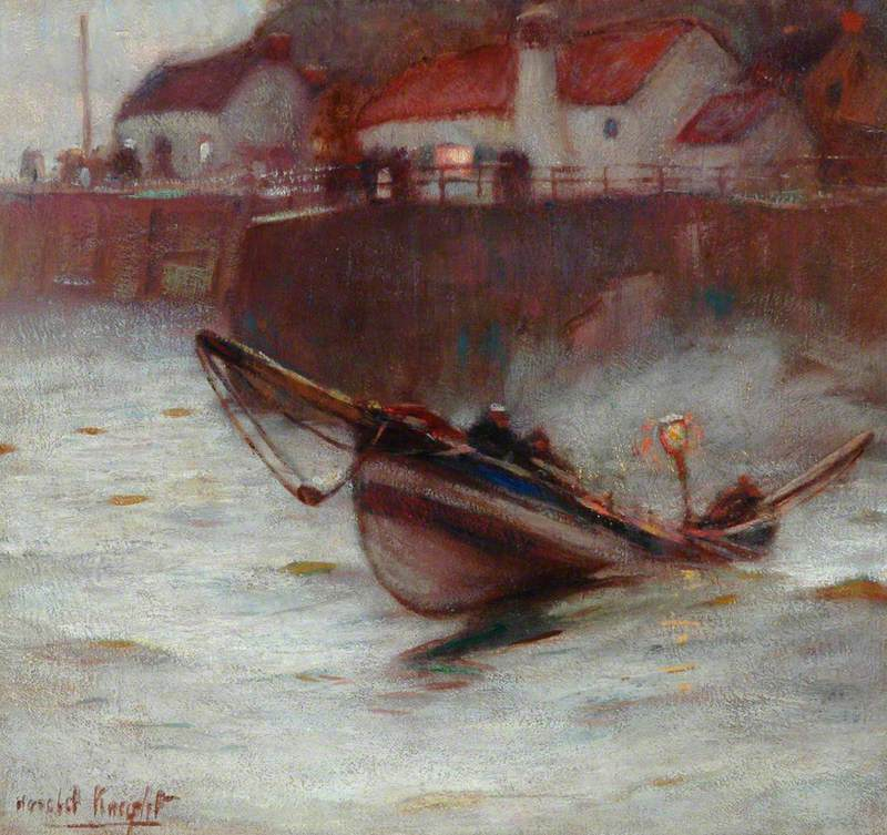 Knight, Harold, 1874-1961 Coble at Staithes