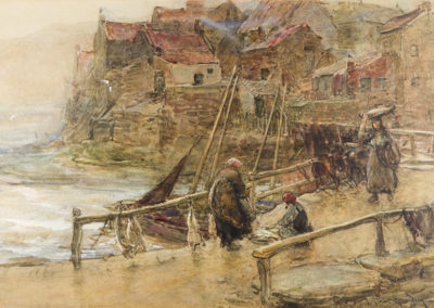 Stormy Weather, Staithes, Frederick Stuart Richardson