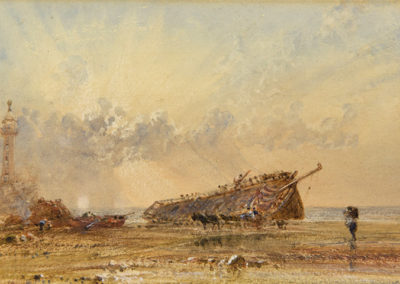 Untitled, Ship Wreck by Pier, George Weatherill