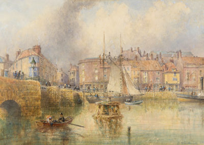 Whitby Bridge and Custom House 1862, George Weatherill