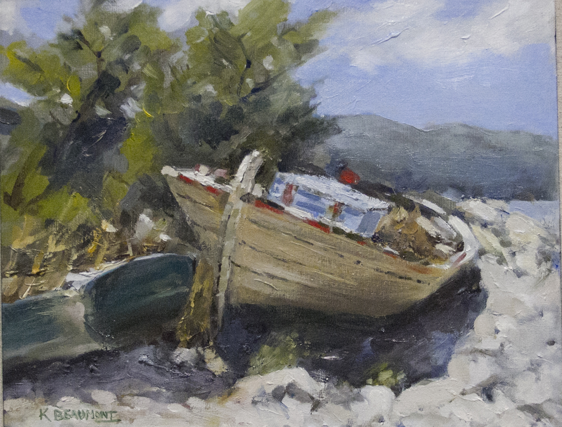 Old Boats at Kefalonia by Ken Beaumont