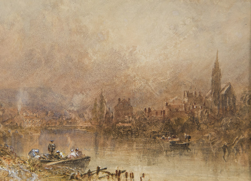Rowing Boat on the River Bank, George Weatherill