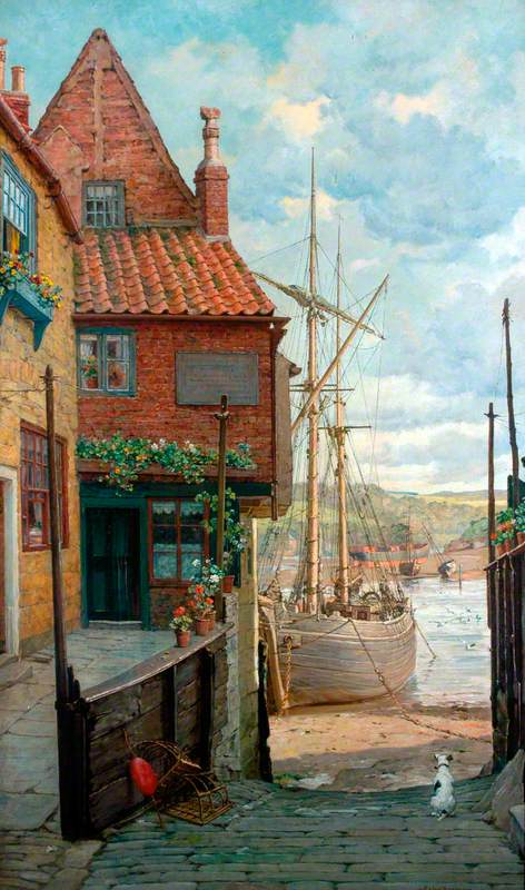 Painting of Whitby Harbour