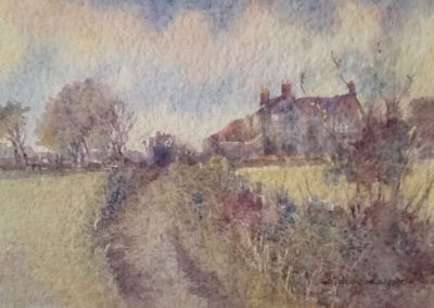 banniel-flats-farm-in-watercolour-by-linda-lupton