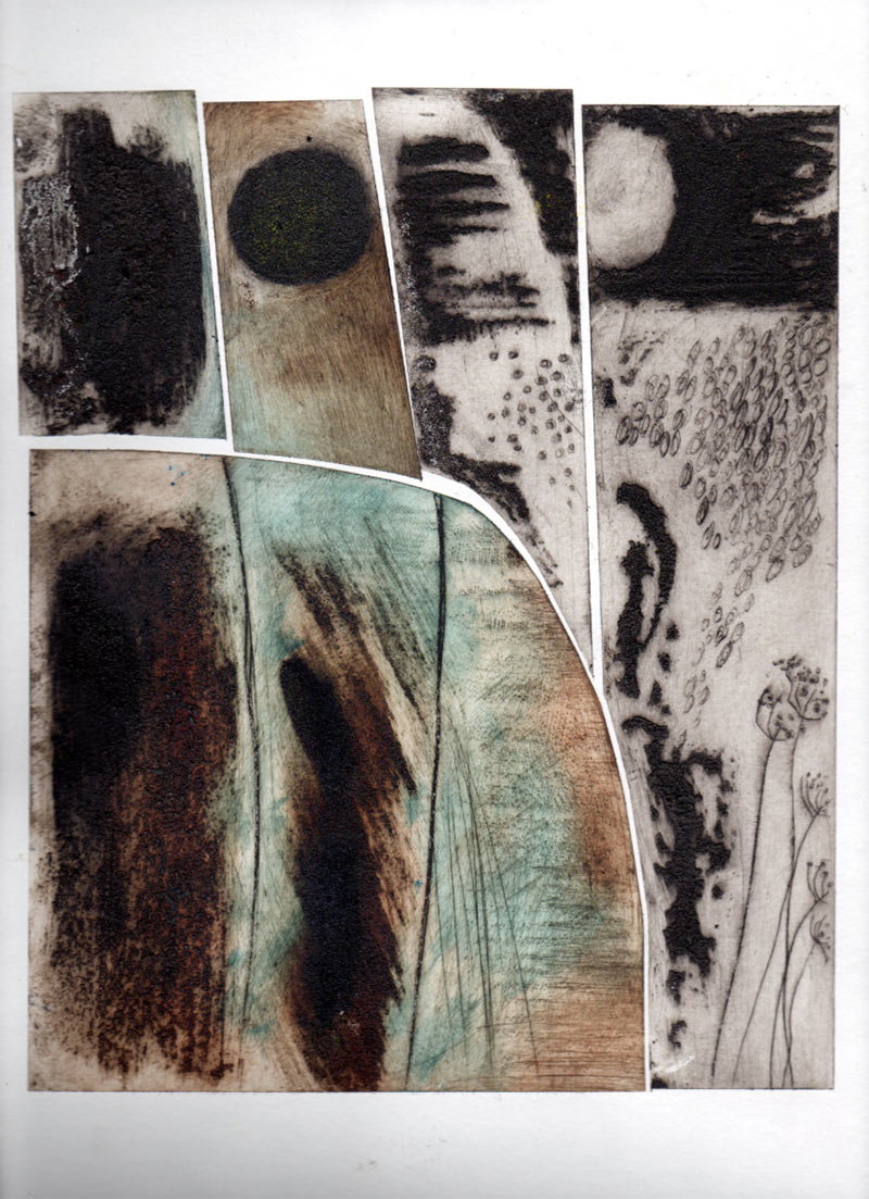 'Seasons Drypoint Etching' by Jan Stead