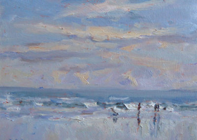 winter-on-whitby-beach-oil-on-board-6-x-8-by-christine-pybus