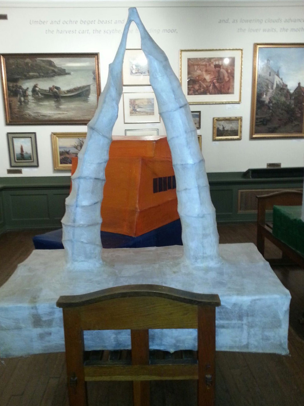 West Cliff Primary School created this magnificent set of Whale bones