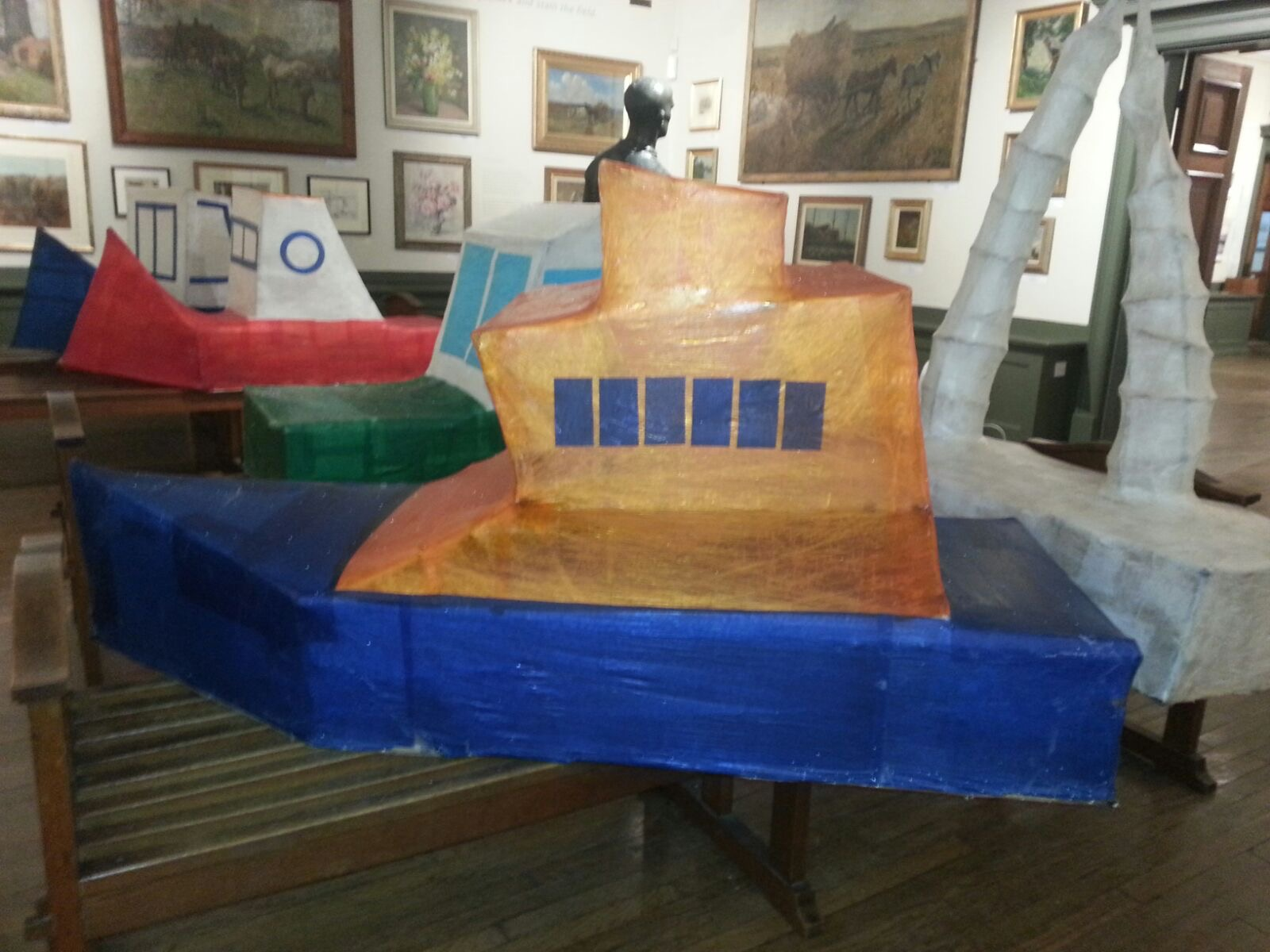 The fantastic Whitby Lifeboat was recreated as a lantern by the pupils of St Hilda's Roman Catholic Primary School