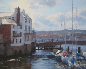 'Yacht Moorings by Whitby Swing Bridge' by Marshall Ould