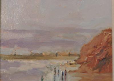 'Moonrise, Whitby Beach' by C Pybus