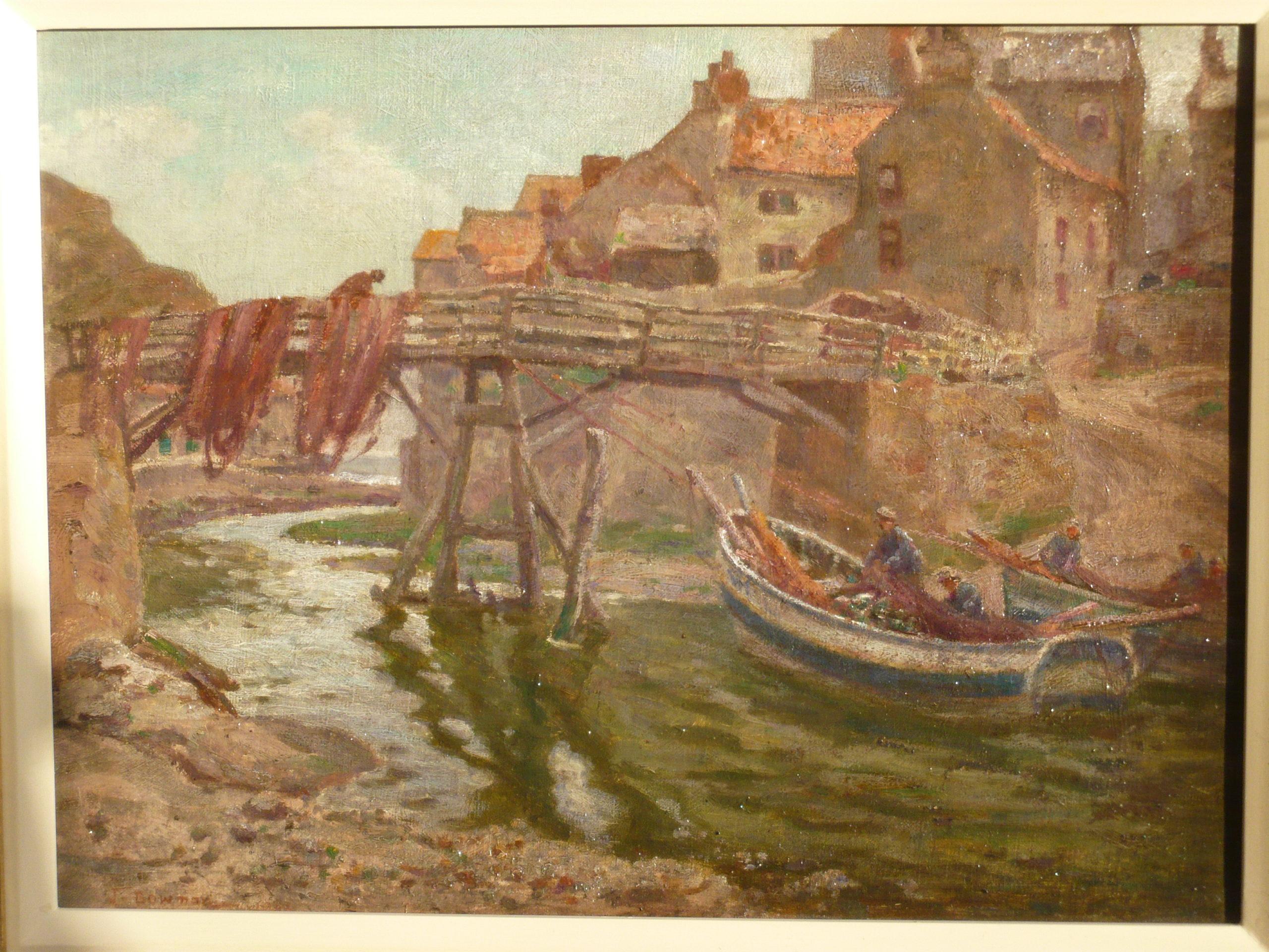 The Bridge at Staithes (1902), by John Bowman