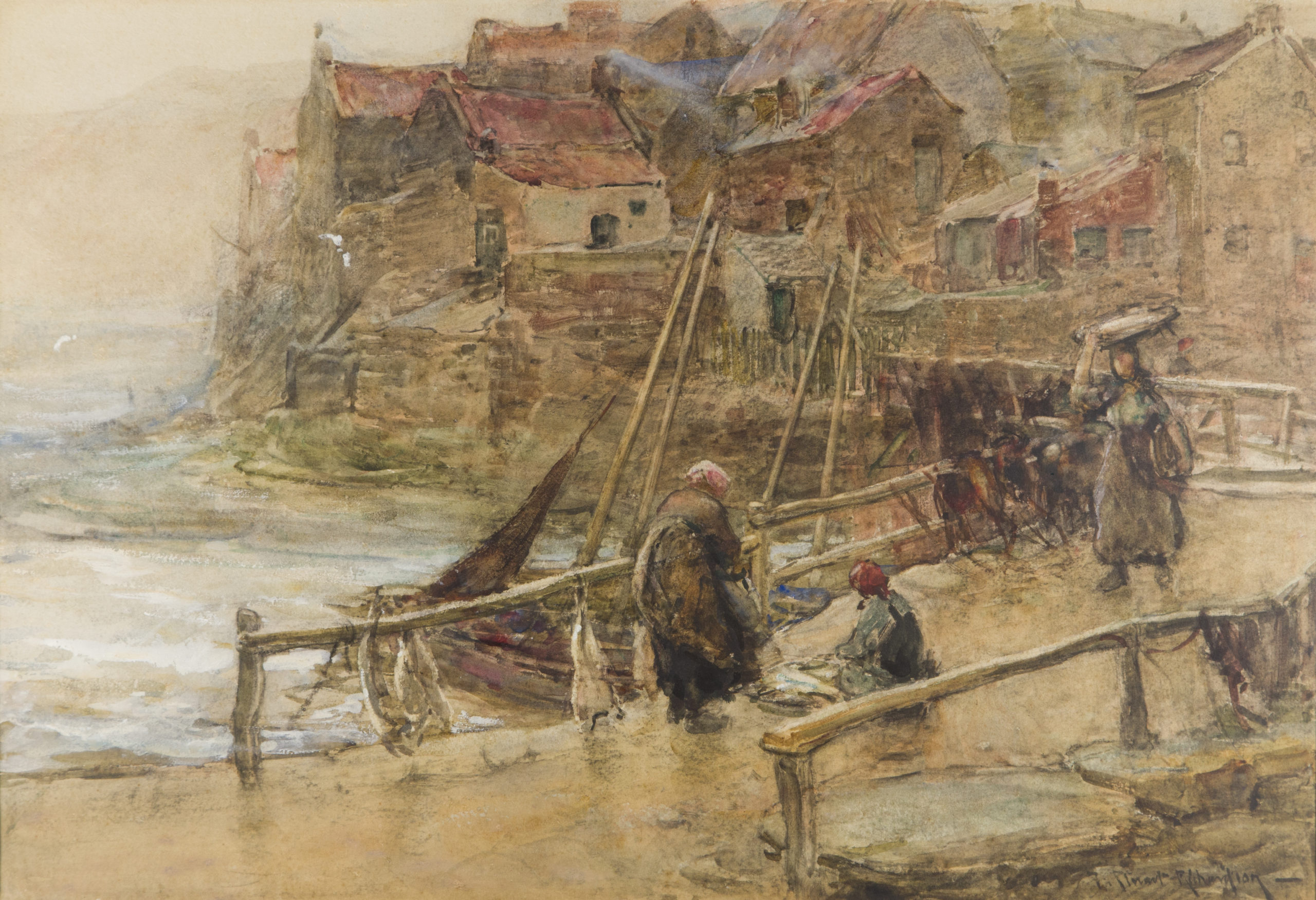 Stormy Weather, Staithes Frederick Stuart Richardson