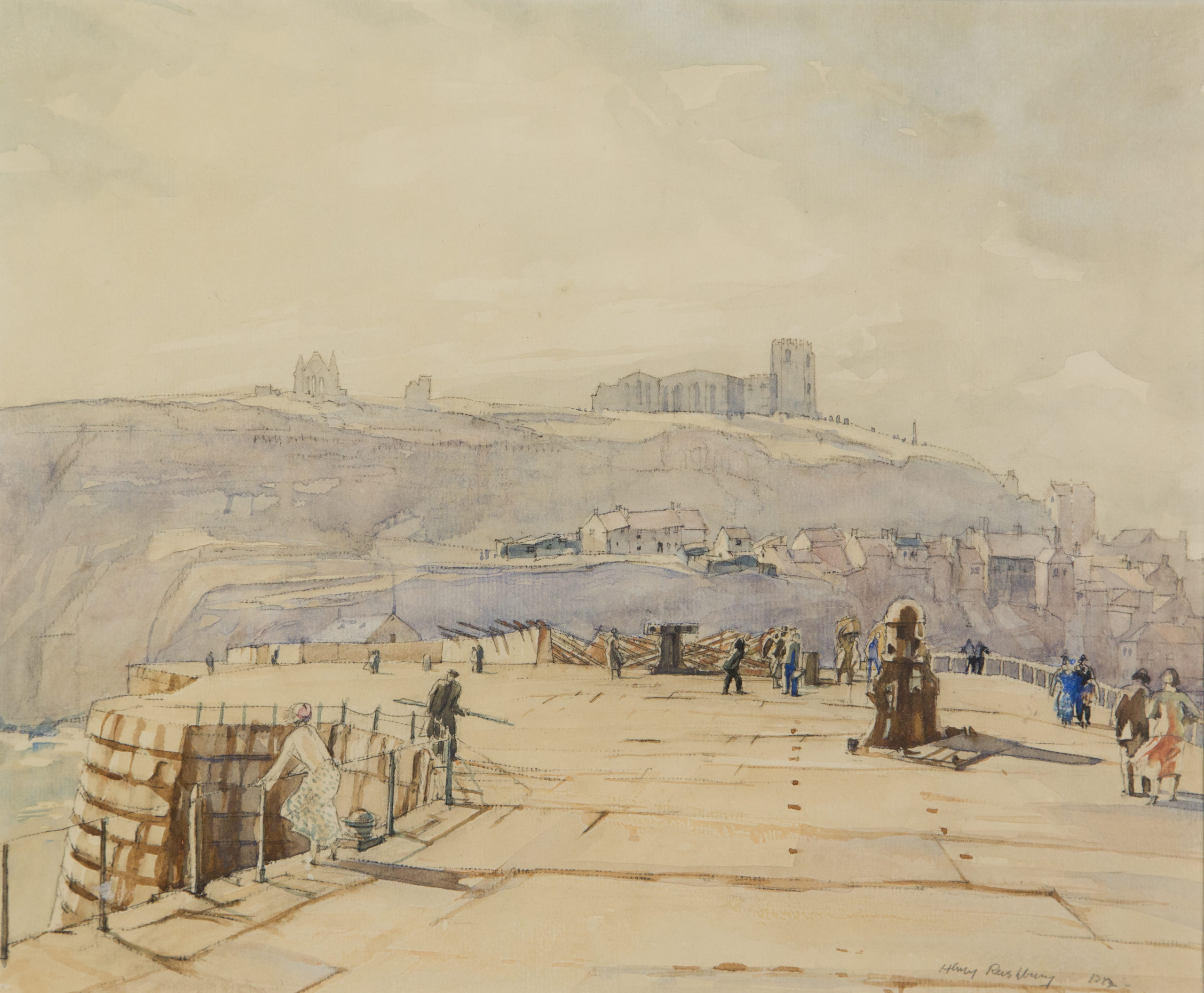 Pannett Art Gallery is Closed - Whitby, 1932 by Sir Henry George Rushbury (1889 –1968)