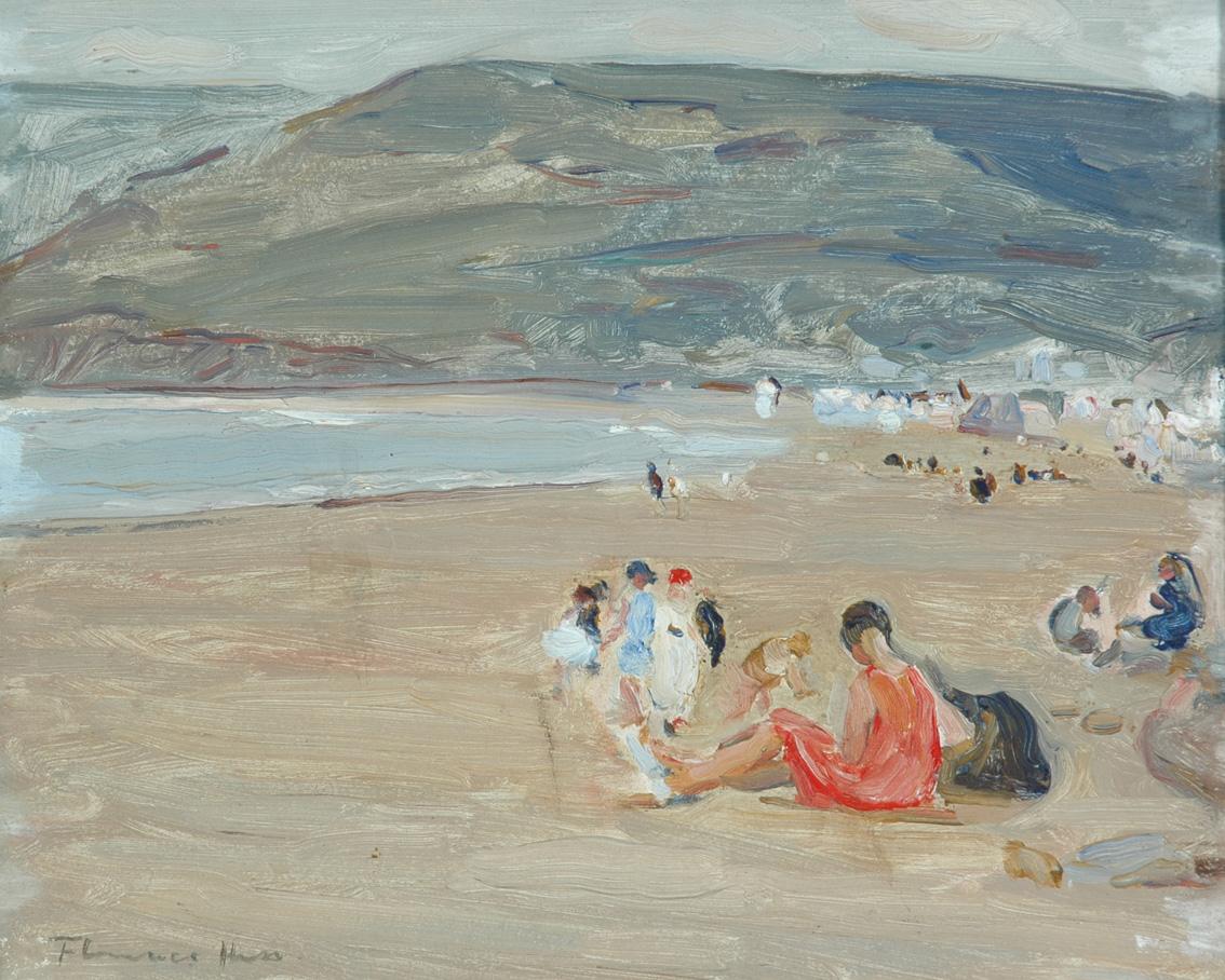 Beach Scene by Florence Hess (1891-1974)