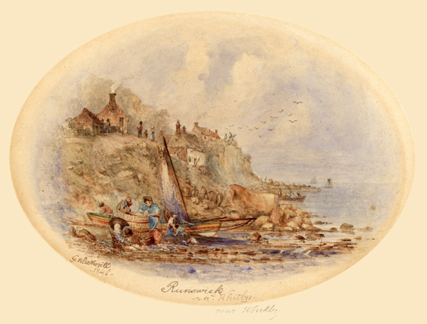 Pannett Art Gallery is Closed - Runswick by George Weatherill (1810-1890)