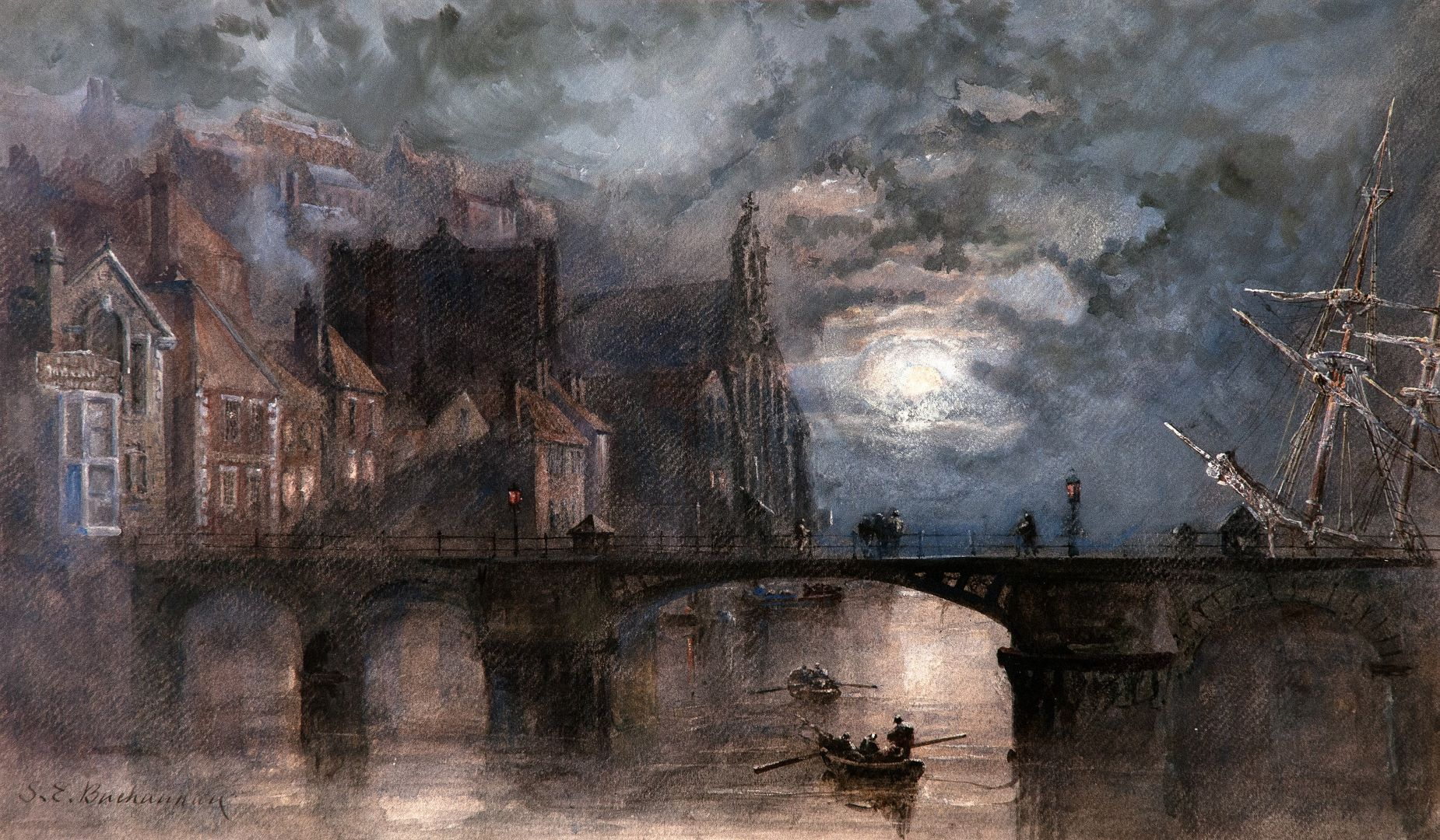 Pannett Art Gallery is Closed - Whitby Bridge by Sarah Weatherill