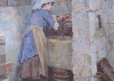 A Runswick Washerwoman, Ralph Hedley R.B.A. Pr.B.C 1848 – 1913