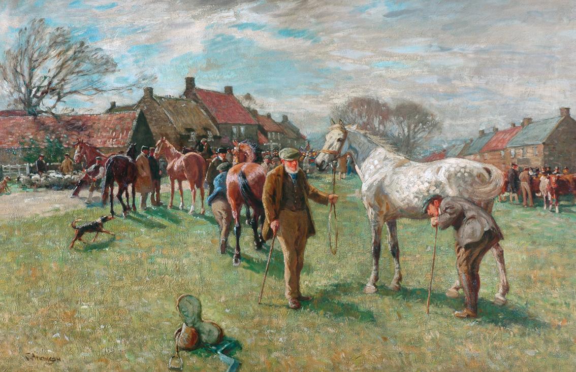 Pannett Art Gallery is Closed - Egton Horse Fair John Atkinson, 1863-1924