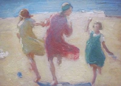 On Runswick Beach, Florence Hess 1891 - 1974