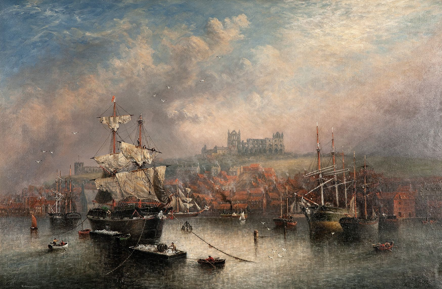 Pannett Art Gallery is Closed - Unloading Cargo by Richard Weatherill (1844 – 1923)