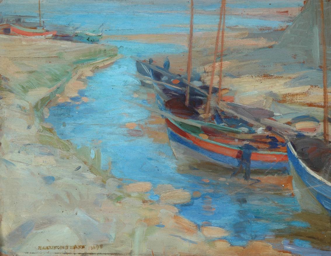 Pannett Art Gallery is Open- Low Tide On The Beck by Harrington Mann 1864 - 1937