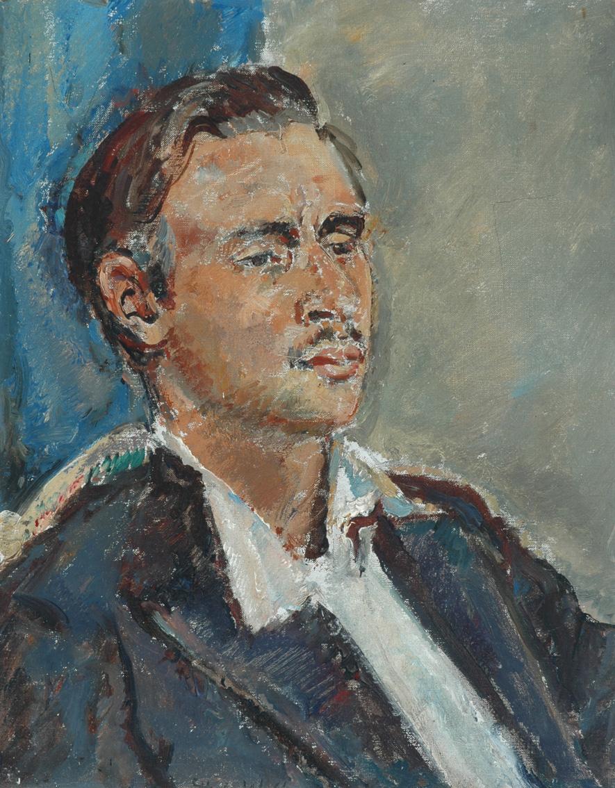 Pannett Art Gallery is Open- Leo Walmsley by Dame Ethel Walker (1861 – 1951)