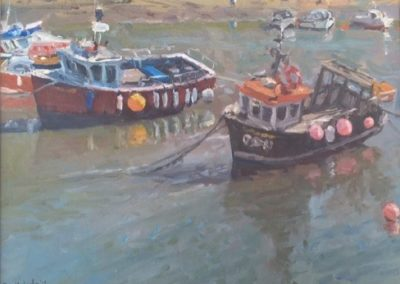 Boats at Low Tide, Staithes by Bruce Mulcahy